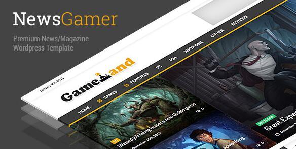NewsGamer 游戏电影新闻杂志博客 WordPress主题