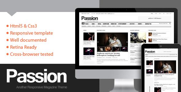 WordPress主题 Passion杂志CMS模板